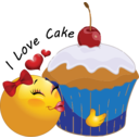 Cupcake Smiley Emoticon