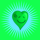 download Happy Kissed Heart clipart image with 135 hue color