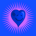 download Happy Kissed Heart clipart image with 225 hue color