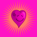 download Happy Kissed Heart clipart image with 315 hue color