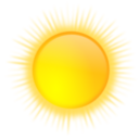 download Weather Icon Sunny clipart image with 0 hue color