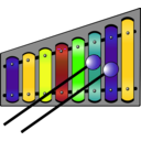 download Xylophone Colourful clipart image with 45 hue color