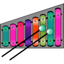 download Xylophone Colourful clipart image with 315 hue color