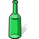 download Green Bottle clipart image with 45 hue color