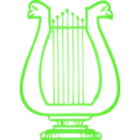 download Golden Lyre clipart image with 45 hue color