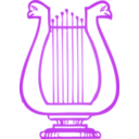 download Golden Lyre clipart image with 225 hue color