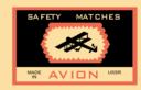Matchbox Label Avion