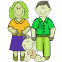 download Family 2 clipart image with 45 hue color