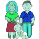 download Family 2 clipart image with 135 hue color