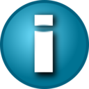 Small Blue I Info Button