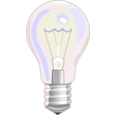 download Light Bulb clipart image with 180 hue color