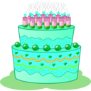 download Birthday Cake clipart image with 135 hue color