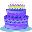 download Birthday Cake clipart image with 225 hue color
