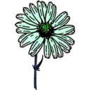 download Colored Daisy 2 clipart image with 135 hue color