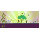 download A Love Note In Music In Nature clipart image with 45 hue color