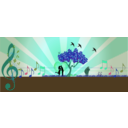 download A Love Note In Music In Nature clipart image with 135 hue color
