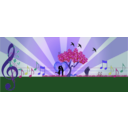 download A Love Note In Music In Nature clipart image with 225 hue color