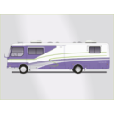 download Land Yacht Motorhome clipart image with 45 hue color