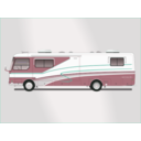 download Land Yacht Motorhome clipart image with 135 hue color