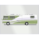 download Land Yacht Motorhome clipart image with 225 hue color