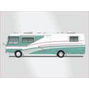 download Land Yacht Motorhome clipart image with 315 hue color