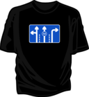T Shirt Mushroom Rad Sign