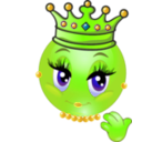 download Queen Smiley Emoticon clipart image with 45 hue color