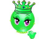 download Queen Smiley Emoticon clipart image with 90 hue color