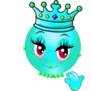 download Queen Smiley Emoticon clipart image with 135 hue color