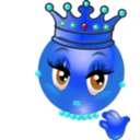 download Queen Smiley Emoticon clipart image with 180 hue color