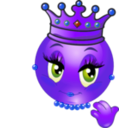download Queen Smiley Emoticon clipart image with 225 hue color
