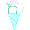 download Ice Cream Cone Linda Kim 01 clipart image with 135 hue color