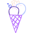 download Ice Cream Cone Linda Kim 01 clipart image with 225 hue color