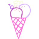 download Ice Cream Cone Linda Kim 01 clipart image with 270 hue color