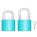 download Lock And Key clipart image with 135 hue color