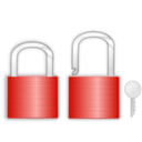 download Lock And Key clipart image with 315 hue color