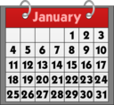 Calendar Icon With Binder Rings