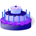 download Cake clipart image with 225 hue color
