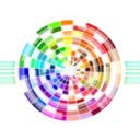 Multicolored Wheel Abstract Background