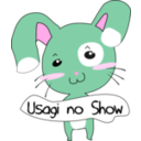 download Usagi No Show clipart image with 315 hue color