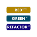 download Red Green Refactor Street Sign clipart image with 45 hue color
