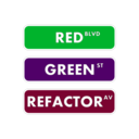 download Red Green Refactor Street Sign clipart image with 135 hue color