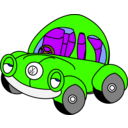 download Sleepy Vw Beetle clipart image with 45 hue color