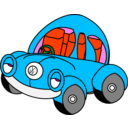 download Sleepy Vw Beetle clipart image with 135 hue color