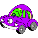 download Sleepy Vw Beetle clipart image with 225 hue color