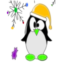 download Linux Penguin clipart image with 45 hue color
