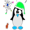 download Linux Penguin clipart image with 135 hue color
