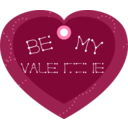 Be My Valentine Heart Shaped Gift Tag