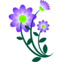download Blue Flower Motif clipart image with 45 hue color