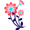 download Blue Flower Motif clipart image with 135 hue color